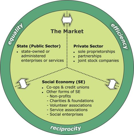What do we mean by 'social economy'?Social economy organizations are those whose members are animated by the principle of reciprocity for the pursuit of mutual economic or social goals, often through the social control of capital. This includes co-operatives, non-profit organizations, social enterprises and similar organizations that use market mechanisms to pursue explicit social and/or environmental objectives.
